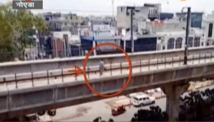 Woman walks on Delhi metro track in an alleged bid to commit suicide - Watch viral video