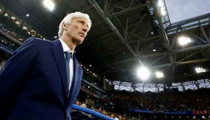 Colombia's coach Jose Pekerman fumes at referee, breaks after FIFA World Cup 2018 loss to England