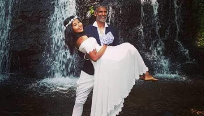 Milind Soman-Ankita Konwar's barefoot wedding in Spain looks dreamy! Pics