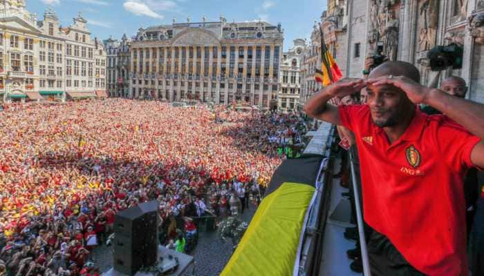 Belgium squad handed hero's welcome on World Cup return