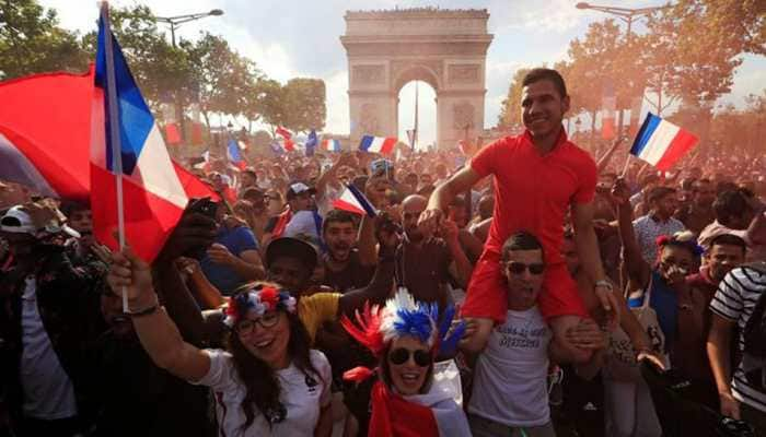 France fans go wild from Paris to Moscow after thrilling World Cup win