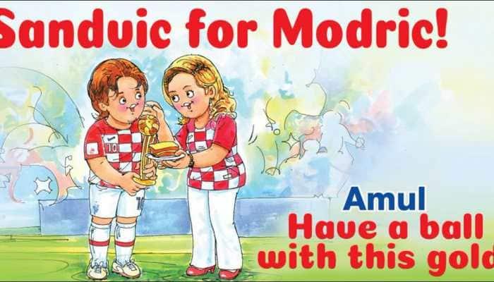 Sanduic for Modric: Amul's unique tribute to Croatia's 'Golden Ball' winner of FIFA World Cup 2018