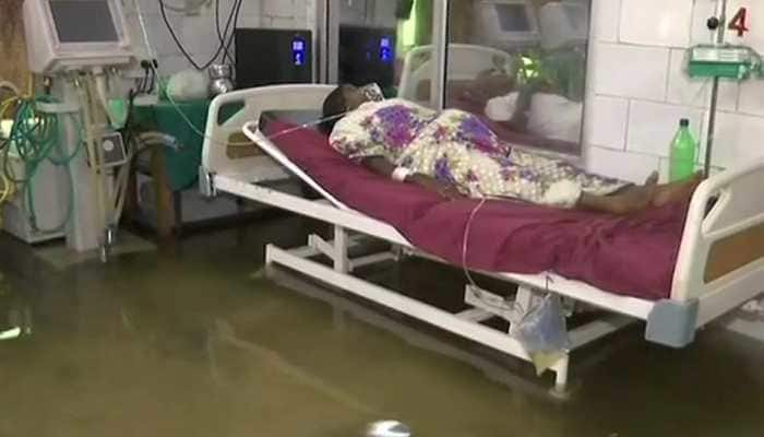 Watch: Fishes in waterlogged ICU ward in Patna's NMCH hospital