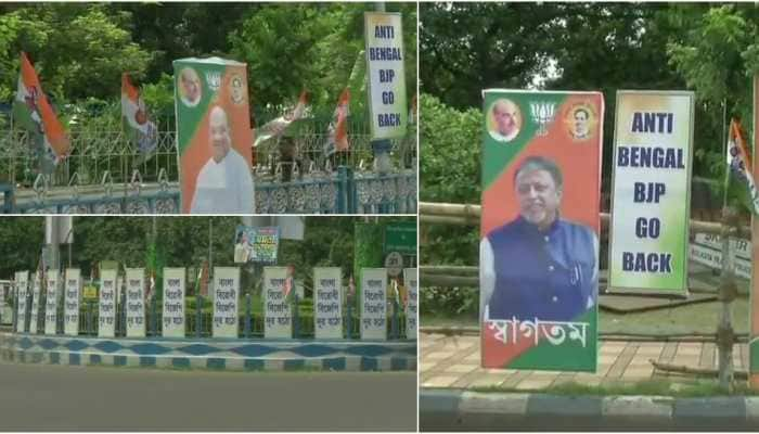 'Anti-Bengal BJP Go Back' posters surface ahead of Amit Shah's rally in Kolkata