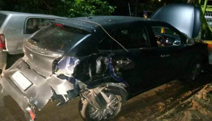 Car of actor Vikram's son crashes into auto, 1 injured