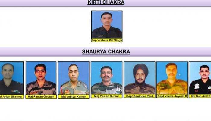 Sepoy Vrajma Pal Singh gets Kirti Chakra, rifleman Aurangzeb, 13 others awarded Shaurya Chakra