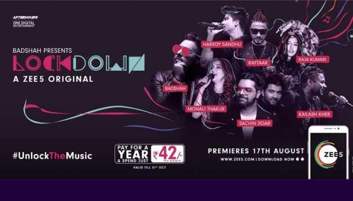 ZEE5 launches Lockdown with Badshah, Kailash Kher, Raftaar, Jonita Gandhi and many more