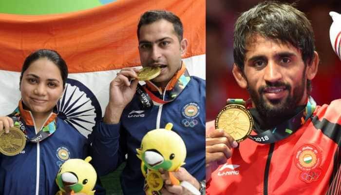 Asian Games 2018: Bajrang Punia wins 1st gold, Apurvi Chandela- Ravi Kumar take bronze on Day 1
