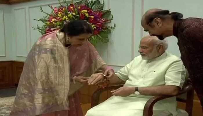PM Modi's sister Qamar Mohsin Shaikh ties him rakhi, says he hasn't changed in 24 years