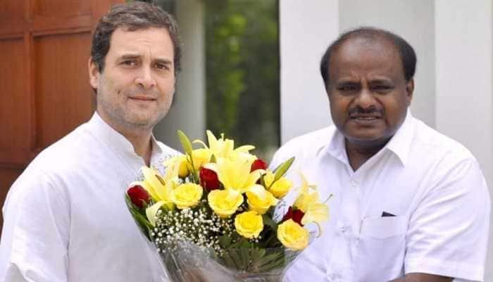 HD Kumaraswamy completes 100 days in office; thanks 'stars', visits Rahul Gandhi in Delhi