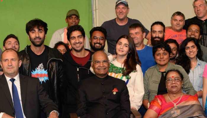 Ranbir Kapoor, Alia Bhatt meet President Ram Nath Kovind on 'Brahmastra' set