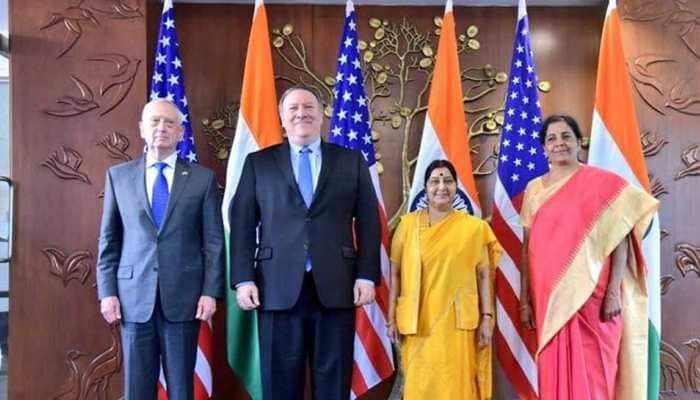At first 2+2 dialogue, India, US sign defence pacts, ask Pakistan to act against terror