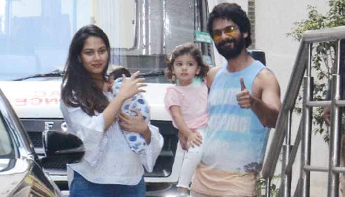 First pics out! Shahid Kapoor, Mira Rajput with newborn son Zain and Misha