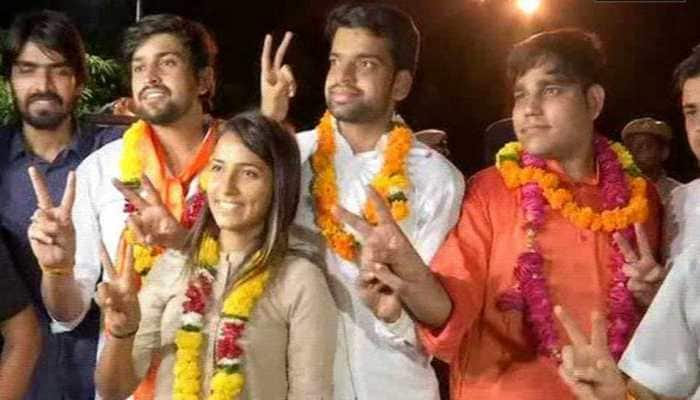 Delhi University Students' Union Elections 2018: ABVP wins top three posts after EVM row, NSUI settles for secretary