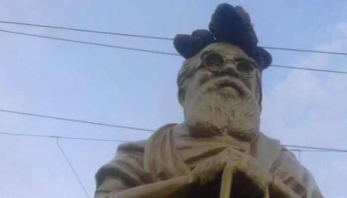 Chennai: Periyar's statue vandalised, slippers kept on head