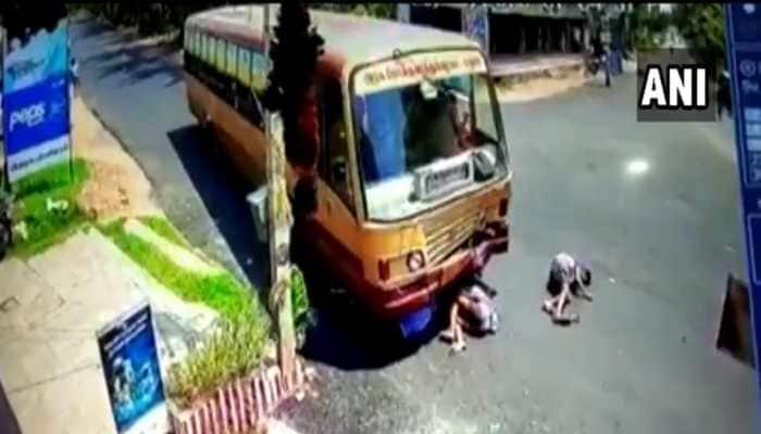 Madurai: 3 men miraculously survives bus crash