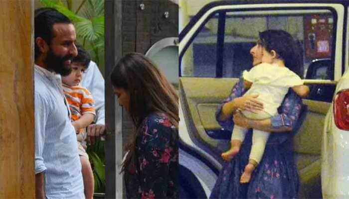 Soha Ali Khan clicked with daughter Inaaya Naumi Kemmu outside Saif-Kareena's residence: In Pics