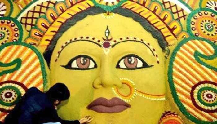 Shubho Mahalaya 2018: Sudarsan Pattnaik pays beautiful sand art tribute to Goddess Durga—See pic