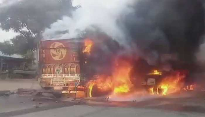 Rajasthan: 3 dead, 1 injured after truck carrying chemical collides with bike