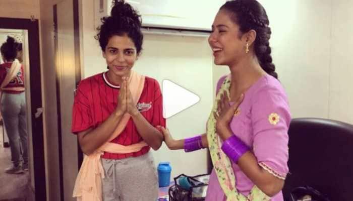 Punjabi actress Sonam Bajwa dances to Bhojpuri star Pawan Singh's hit song 'Lollipop Lagelu'—Watch