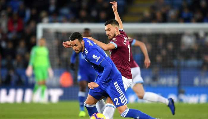 EPL: Leicester City leave it late to salvage point against 10-man West Ham