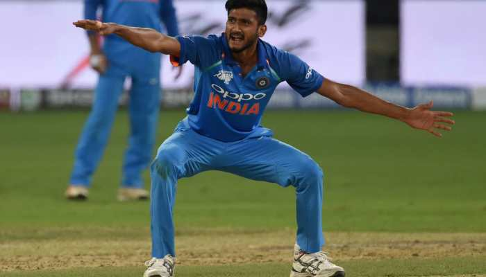 Indian fast bowler Khaleel Ahmed reprimanded by ICC for aggressive Samuels send-off