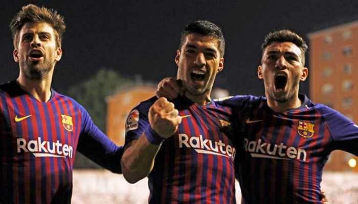 La Liga: Luis Suarez strikes late as Barca snatch victory at Rayo Vallecano