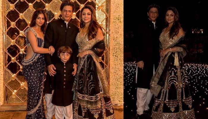 Shah Rukh Khan's Diwali pic with wifey Gauri, Suhana and little AbRam calls for a freeze frame—See pics