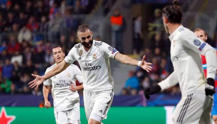 Karim Benzema scores twice as Real Madrid thrash Viktoria Plzen 5-0