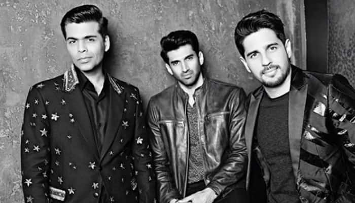 Sidharth Malhotra, Aditya Roy Kapoor shoot for Karan Johar's Koffee With Karan