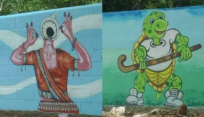 Artists paint Bhubaneswar streets ahead of Men's Hockey World Cup