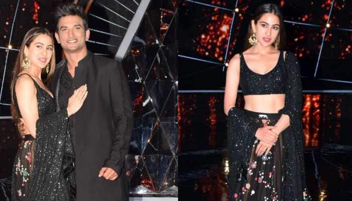 Sara Ali Khan spills black magic on Indian Idol sets, looks breathtakingly beautiful in Sabyasachi Mukherjee outfit