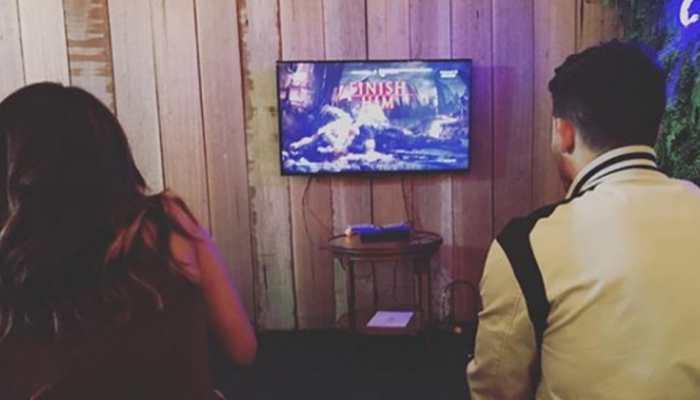 These pics of Priyanka Chopra and Nick Jonas playing 'Mortal Kombat' are unmissable