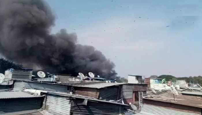 Fire breaks out in a slum in Pune, efforts on to douse the blaze