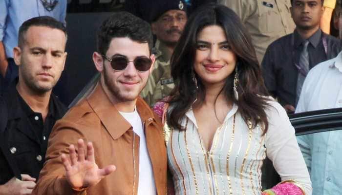 Priyanka Chopra and Nick Jonas arrive at Jodhpur for wedding festivities; spotted at airport—Pics