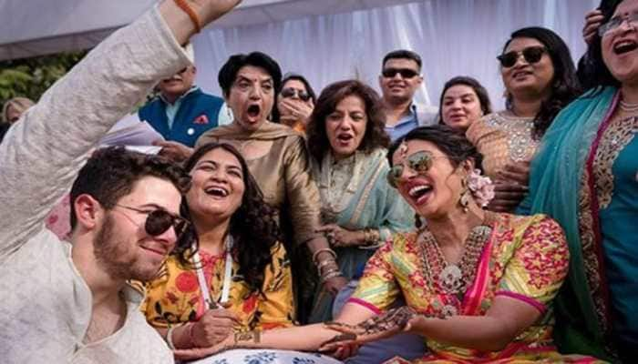 Priyanka-Nick sangeet pics invite meme fest and this time 'aunty' has got all the attention—See inside