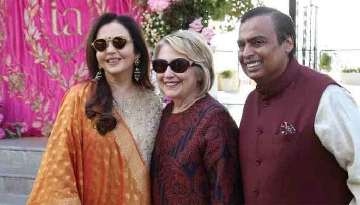 Hillary Clinton arrives in Udaipur to attend pre-wedding celebrations of Isha Ambani-Anand Piramal