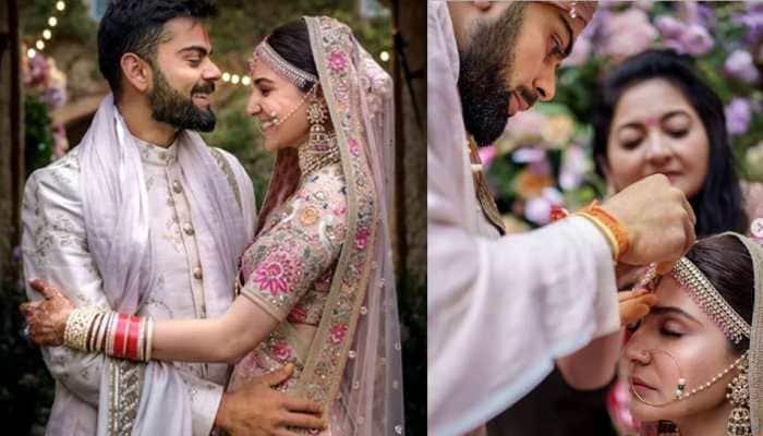 Anushka Sharma and Virat Kohli celebrate first wedding anniversary; share an unseen video and pics— See inside