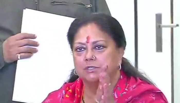 Rajasthan assembly elections 2018: Vasundhara Raje resigns, congratulates Congress