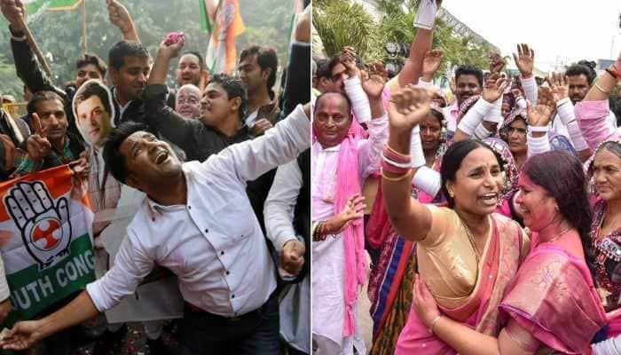 Congress wins Chhattisgarh, Rajasthan Assembly elections, single largest in Madhya Pradesh; TRS sweeps Telangana; MNF takes Mizoram