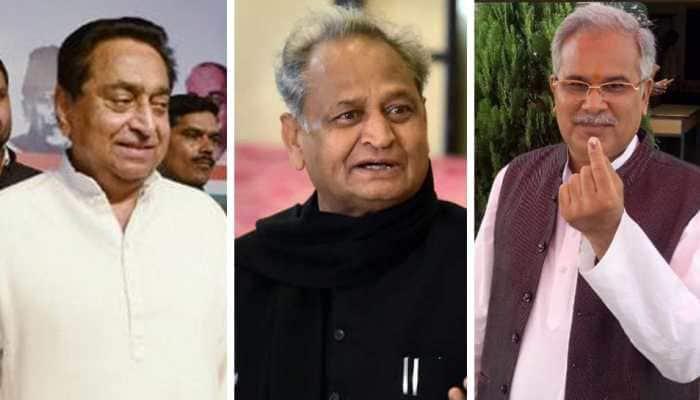 Kamal Nath, Ashok Gehlot, Bhupesh Baghel set to be sworn in as Chief Ministers of Madhya Pradesh, Rajasthan and Chhattisgarh