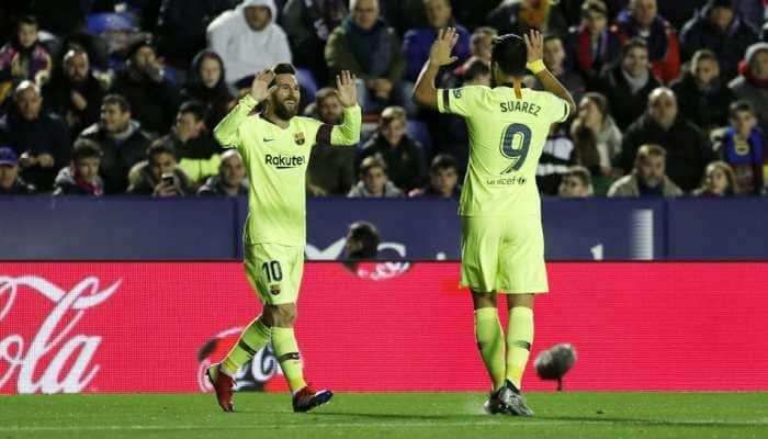 La Liga: Lionel Messi's hat-trick helps Barcelona thrash Levante 5-0