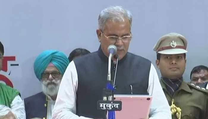 Congress' Bhupesh Baghel takes oath as Chhattisgarh Chief Minister