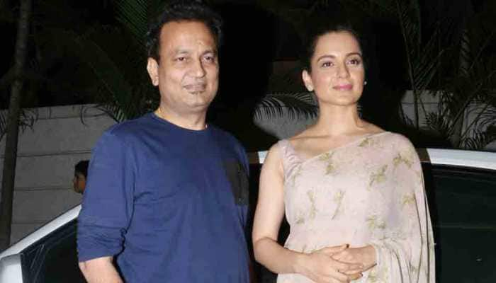 Kangana Ranaut attends Manikarnika trailer screening with Kamal Jain