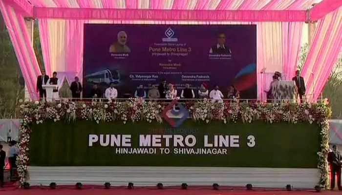 PM Modi lays stones for Thane Metro, mass housing project
