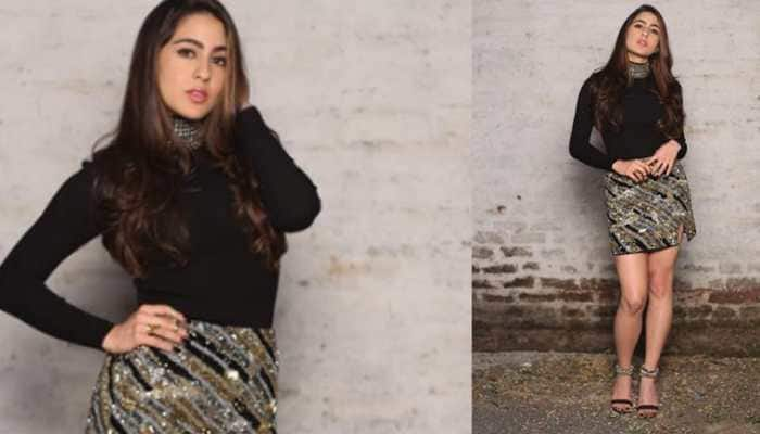 Sara Ali Khan gives fashion lessons by pairing her glam outfit with stunning footwear—Pics