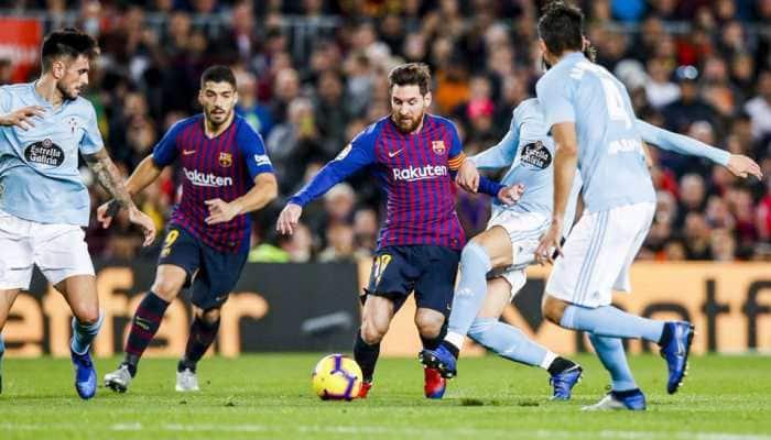 Barcelona ease past Celta to end year atop La Liga