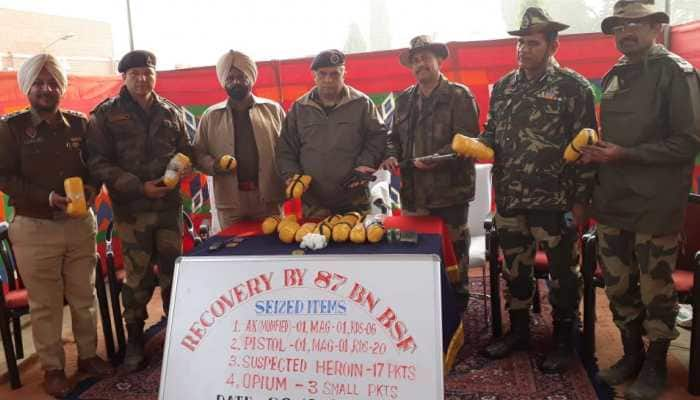 BSF recovers 17 kg heroin, pistol in Punjab's Ferozepur sector