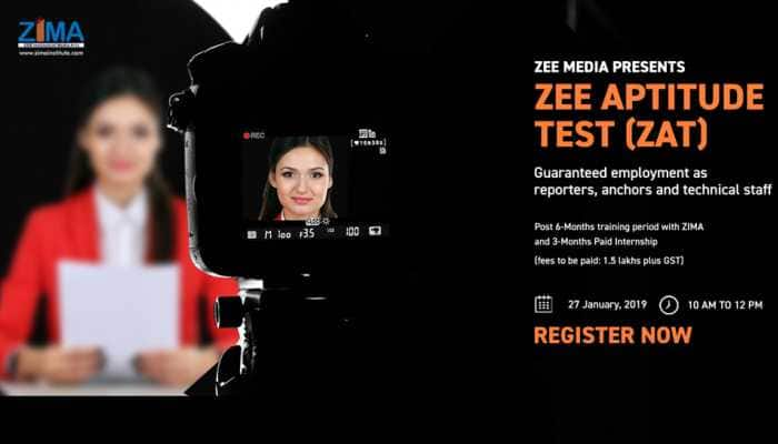 Zee Media, India's largest Media firm, launches first ever All India Journalism Entrance Exam in country for hiring future journalists and reporters