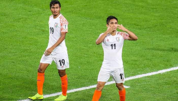 Chhetri strikes twice in India's first Asian Cup win since 1964, goes past Messi
